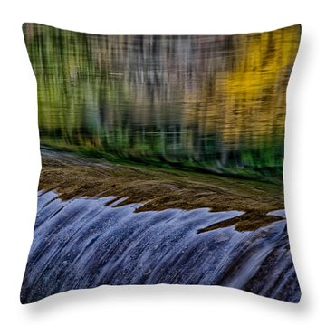 Fall Reflections At Tumwater Spillway Throw Pillow