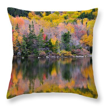 Fall Reflections In Echo Lake Throw Pillow