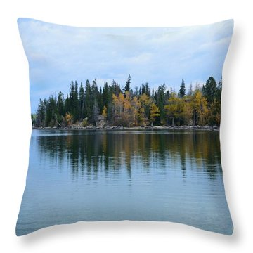 Fall Reflections Throw Pillow by Kathleen Struckle