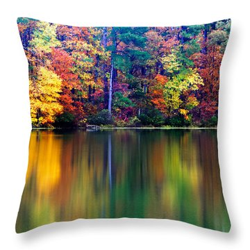 Fall Reflections Throw Pillow by Tony  Colvin