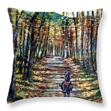 Fall Ride Throw Pillow by Shana Rowe Jackson