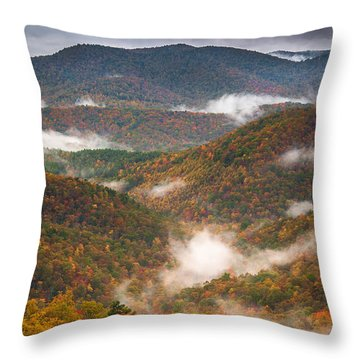 Fall Ridges Throw Pillow