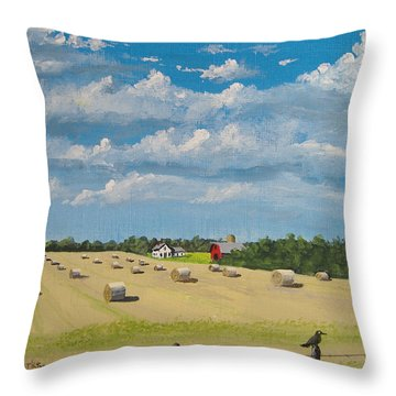 Fall Rounds Throw Pillow by Norm Starks
