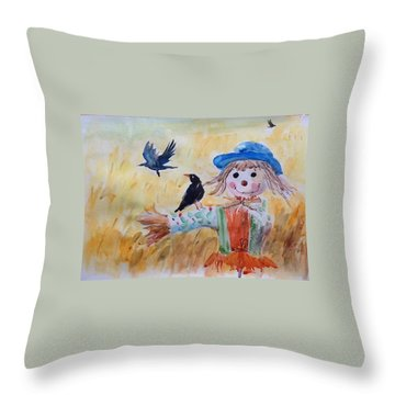 Fall Smile Throw Pillow