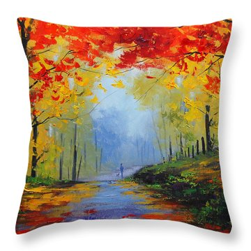 Maple Leaves Throw Pillows
