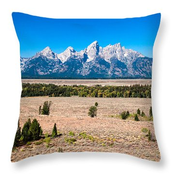 Fall Tetons   Throw Pillow
