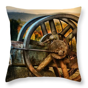 Fall Through The Wheels Throw Pillow