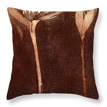 Fall Time - Autumn Crocus Meadow Safran Throw Pillow
