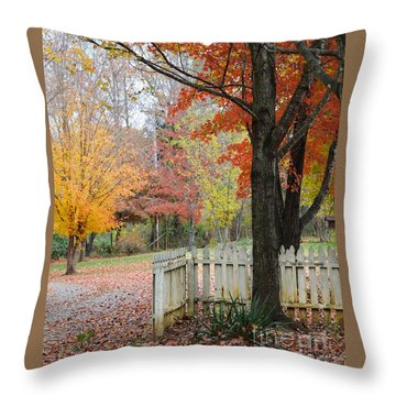 Fall Tranquility Throw Pillow by Debbie Green