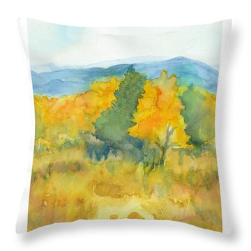 Throw Pillow featuring the painting Fall Trees by C Sitton