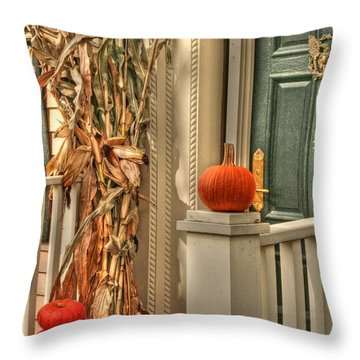 Fall Welcome Throw Pillow by Heather Allen