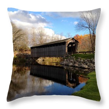 Fallasburg Bridge Throw Pillow