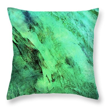 Throw Pillow featuring the mixed media Fallen by Ally  White