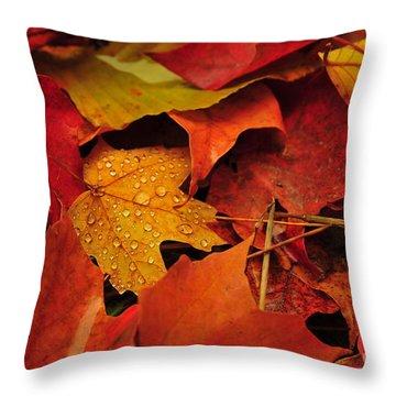 Fallen Beauties Throw Pillow
