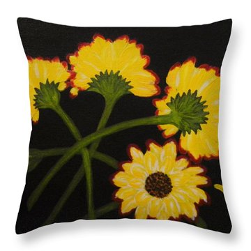 Fallen Throw Pillow by Celeste Manning