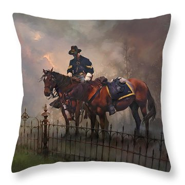 Throw Pillow featuring the painting Fallen Comrade by Rob Corsetti
