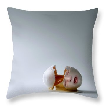 Fallen Egg Throw Pillow