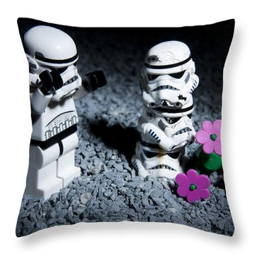 Fallen Friends Throw Pillow