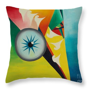Throw Pillow featuring the painting Fallen From Grace by PainterArtist FIN