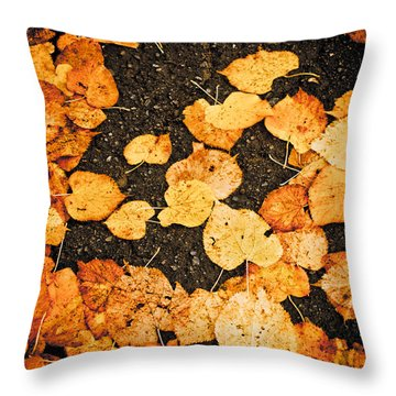 Fallen Leaves Throw Pillow by Silvia Ganora
