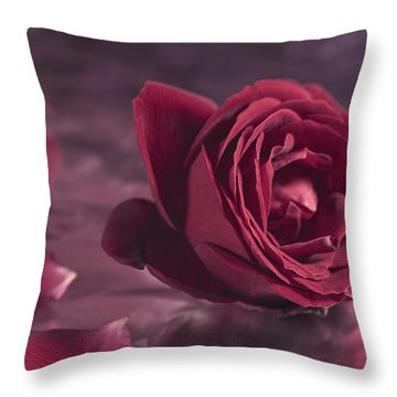 Fallen Petals Throw Pillow by Trevor Chriss