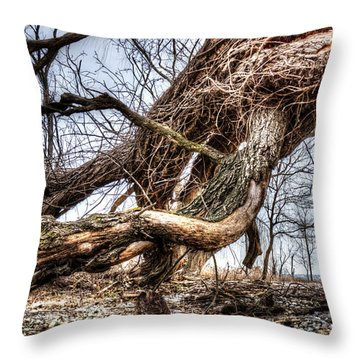 Fallen Twisted Giant Throw Pillow