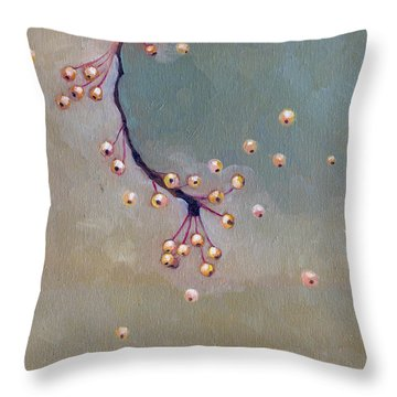 Falling Away Throw Pillow by Katherine Miller