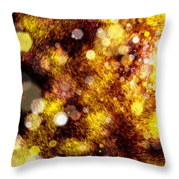 Falling Dew Throw Pillow by Matt Lindley