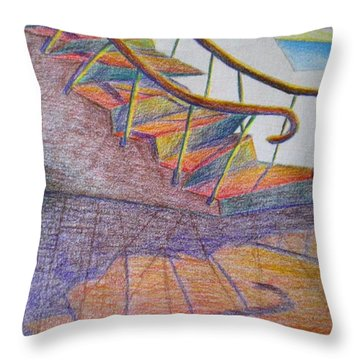 Falling Down The Stairs Throw Pillow