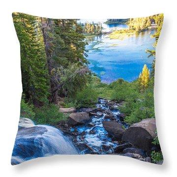 Falling Down To The Lakes Throw Pillow