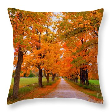 Falling For Romance Throw Pillow