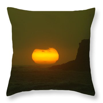 Falling Into The Waves Throw Pillow by Jeff Swan