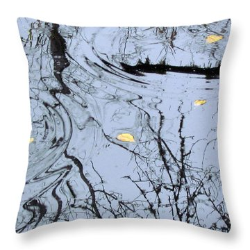 Throw Pillow featuring the photograph Falling Leaves by I'ina Van Lawick