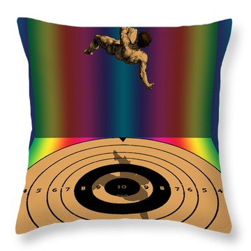 Falling Man Throw Pillow