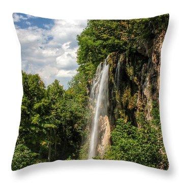 Falling Springs Falls Throw Pillow