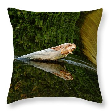 Falling Tree Reflections Throw Pillow by Debbie Oppermann