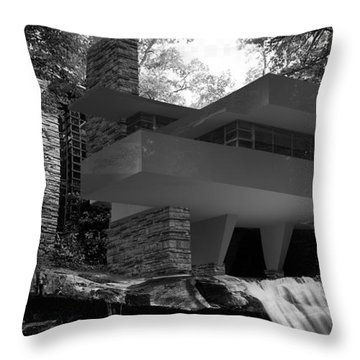 Falling Waters Throw Pillow by Louis Ferreira