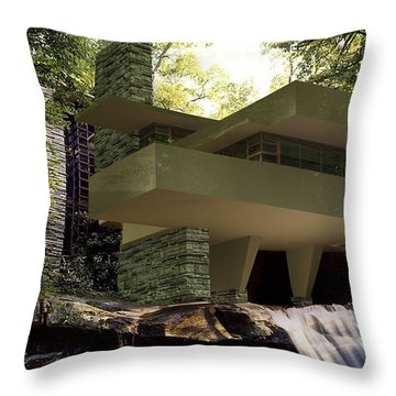 Fallingwaters Throw Pillow by Louis Ferreira