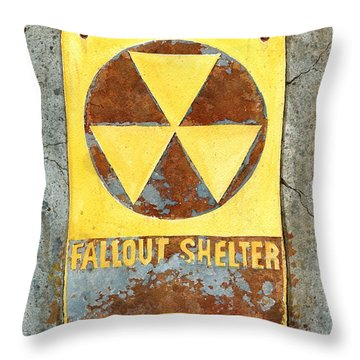 Fallout Shelter #2 Throw Pillow
