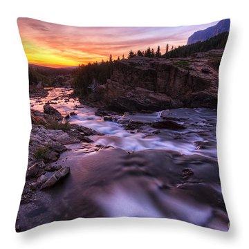 Falls At First Light Throw Pillow