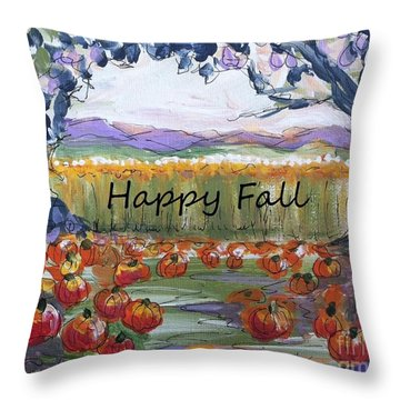 Happy Fall Greeting Card  Throw Pillow