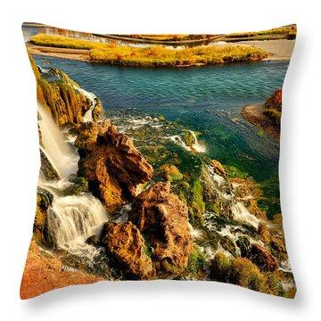 Falls Creek Waterfall Throw Pillow by Greg Norrell
