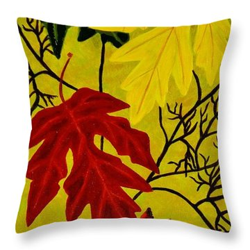 Fall's Gift Of Color Throw Pillow by Celeste Manning
