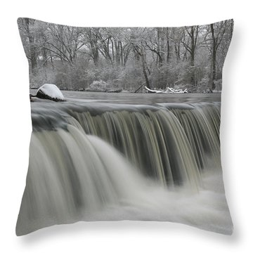 Falls In Winter Throw Pillow
