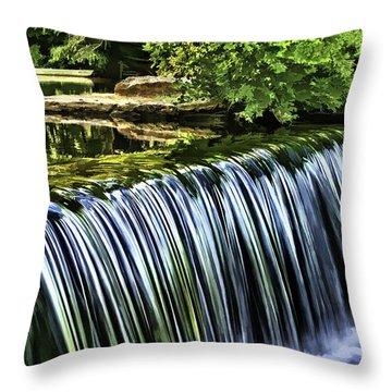 Throw Pillow featuring the painting Falls by Muhie Kanawati