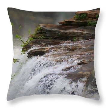 Falls Of Alabama Throw Pillow
