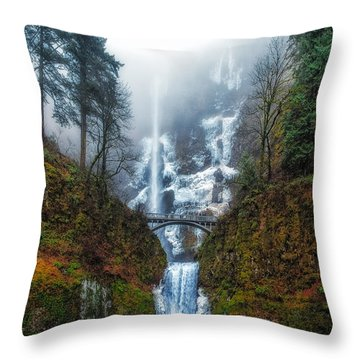 Falls Of Heaven Throw Pillow by James Heckt