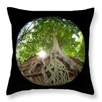 Falls Park Tryptic Throw Pillow by Joye Ardyn Durham