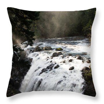 Waterfall Magic Throw Pillow