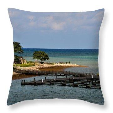 Falmouth Jamaica Port Ocean View Throw Pillow